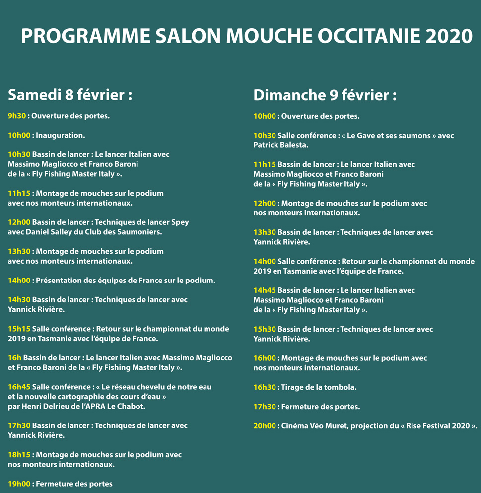 Programme salon mouche occitanie